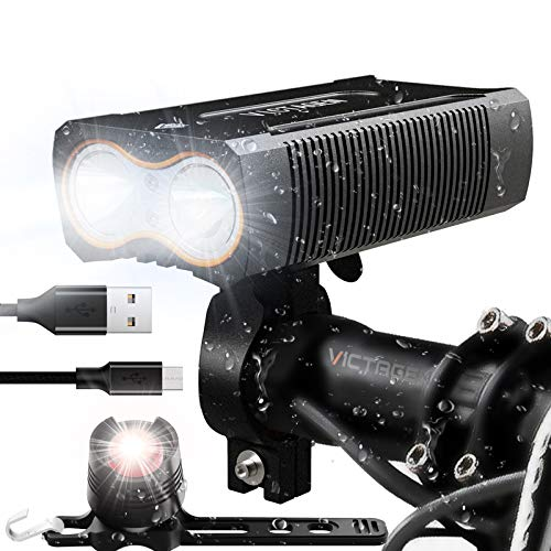 Victagen Ultra Bright LED Rechargeable Bike Light – Headlight & Taillight review